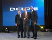 Majdi Abulaban, Sr. Vice President Delphi, President Delphi E/EA and President Delphi Asia Pacific, with Rick Blake, Founder and President of Edgewater Automation and Sidney Johnson, Sr. Vice President, Delphi Global Supply Management