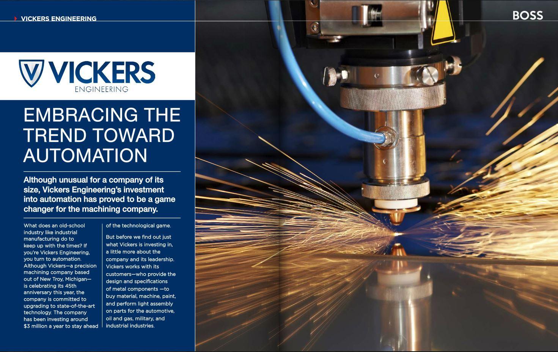 Boss Magazine Edgewater Automation Vickers Engineering